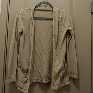 Open Front Tan Cardigan, size S